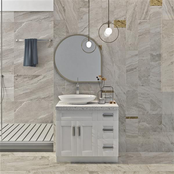 Cowry Cabinets White 36-in Vanity Base