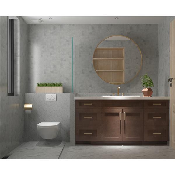 "Meuble-lavabo 66"", expresso"