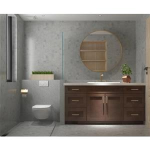 "Meuble-lavabo 66"", expresso"