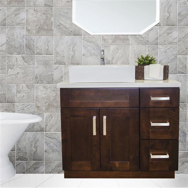 "Meuble-lavabo 36"", expresso"