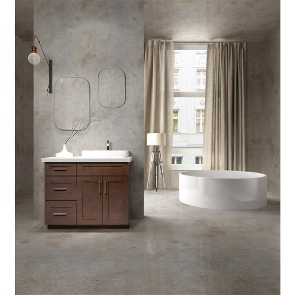 "Meuble-lavabo 39"", expresso"