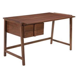 Zuo Modern Graham Desk  - 53.7-in x 30.3-in - Wood - Walnut