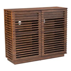 Zuo Modern Linea Cabinet - 41.6-in x 35.1-in - Wood - Brown