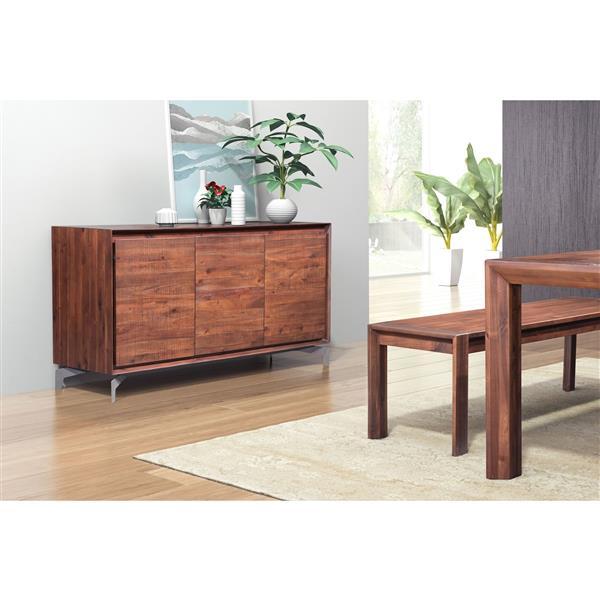 Groovy Zuo Modern Perth Buffet 59 8 X 31 5 Wood Brown Interior Design Ideas Gentotryabchikinfo