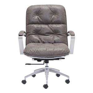 Zuo Modern Avenue 22.00-in x 20.90-in Vintage Grey Faux Leather Office Chair