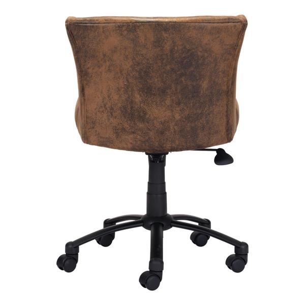 """Shaw Office Chair - 21.9"""" - 21.9"""" - Upholstered - Brown"""