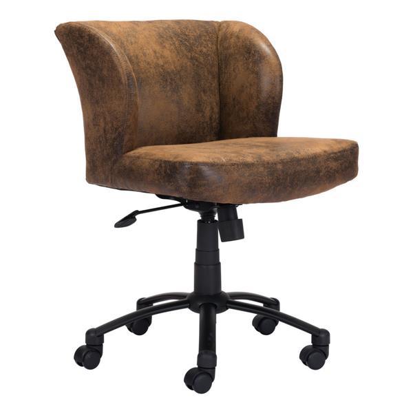 """Chaise de bureau Shaw, 21,9"""" x 21,9"""", rembourré, brun"""