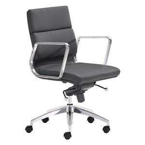 Zuo Modern Engineer Office Chair - 18.5-in - 20-in - Black