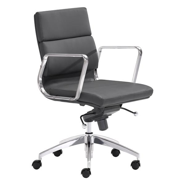 Chaise de bureau Engineer de Zuo Modern, 18,5 po x 20 po, noir