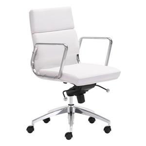 "Chaise de bureau Engineer, 18,5"" x 20"", blanc"