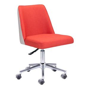 Zuo Modern Season Office Chair - 17.7-in - 22.4-in - Orange