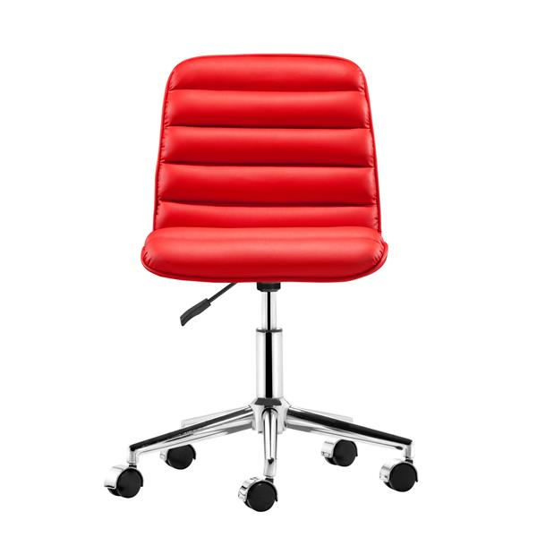 Zuo Modern Admire Office Chair - 20.5-in x 18.5-in - Faux Leather - Red