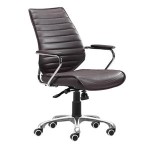 Zuo Modern Enterprise Office Chair - 19.5-in - 20.5-in - Espresso