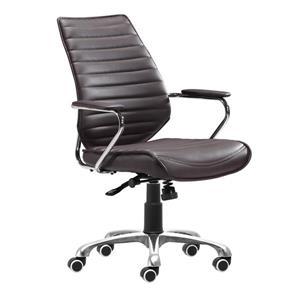 """Chaise de bureau Enterprise, 19,5"""" x 20,5"""", espresso"""