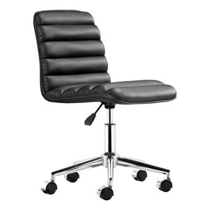 Zuo Modern Admire 20.50-in x 18.50-in Black Faux Leather Office Chair