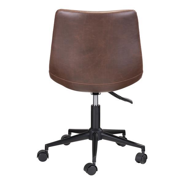 Chaise de bureau Smart de Zuo Modern, 18,5 po x 19,5 po, espresso