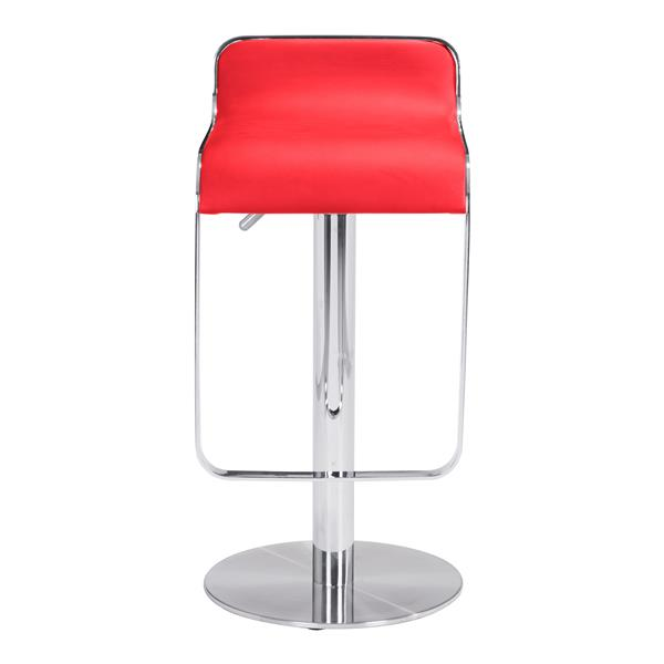 "Tabouret de bar Equino, 26,5"", similicuir, rouge"