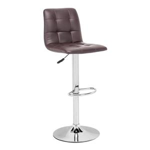 Zuo Modern Oxygen Bar Stool - 24-in - Faux Leather - Brown