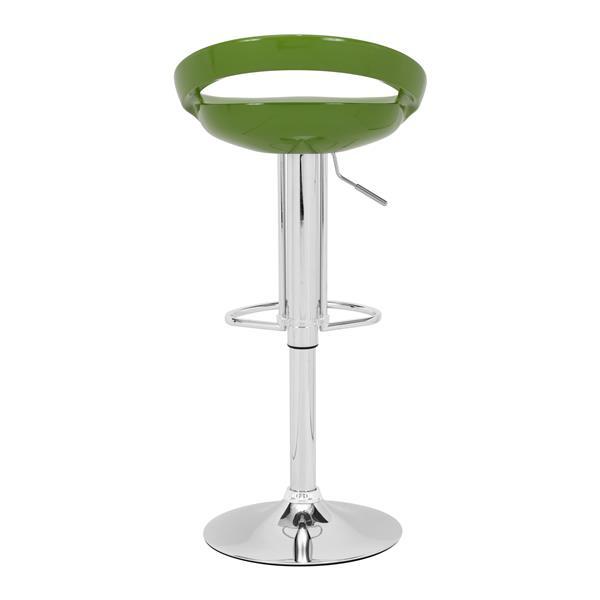 Zuo Modern Tickle Bar Stool - 24-in - Metal  - Green