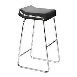 Zuo Modern Wedge Bar Stool - 32-in - Faux Leather - Black - Set of 2
