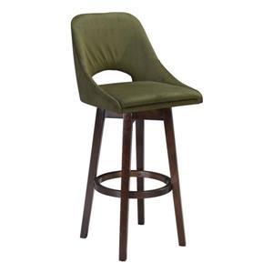 Zuo Modern Ashmore Bar Stool - 30.31-in - Polyester - Green