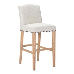 Zuo Modern Pasadena Bar Stool 29.9-in Polyester Brown