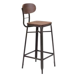 Broadway 29.5-in Metal Brown Bar Stool (Set of 2)