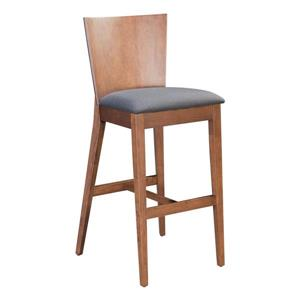 Zuo Modern Brown/Grey Polyester 29.3-in Ambrose Bar Stools (Set of 2)