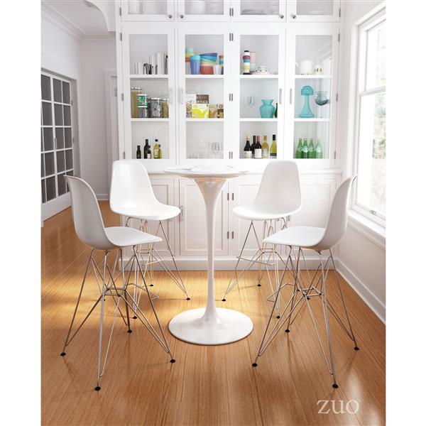 Magnificent Zuo Modern Zip Bar Stool 28 7 In Metal Gold 100323 Rona Creativecarmelina Interior Chair Design Creativecarmelinacom