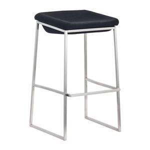 Zuo Modern Lids Bar Stool - 28.7-in - Polyester - Gray - Set of 2