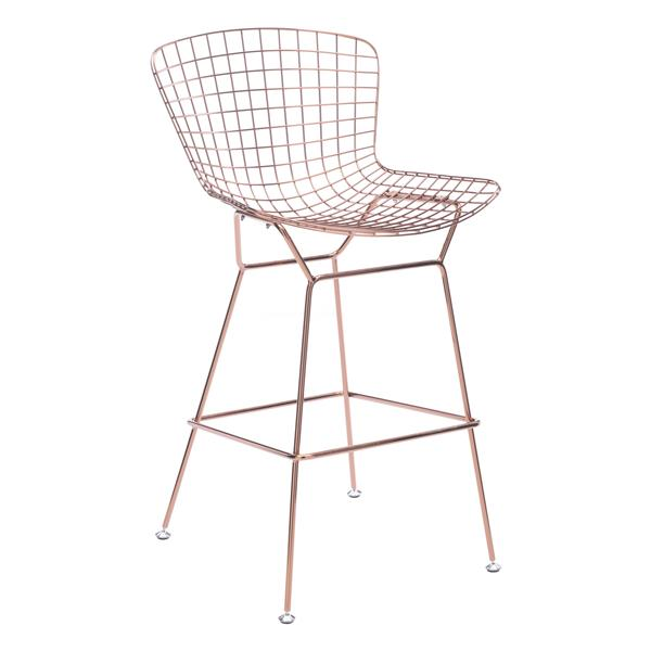 Zuo Modern Wire Bar Stools 28 3 Quot Metal Gold Set Of