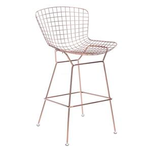 Zuo Modern Wire Bar Stools - 28.3-in - Metal  - Gold - Set of 2