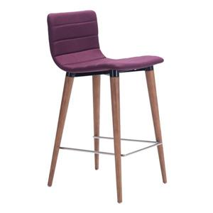 Zuo Modern Jericho Bar Stools - 26-in - Polyester - Purple - Set of 2