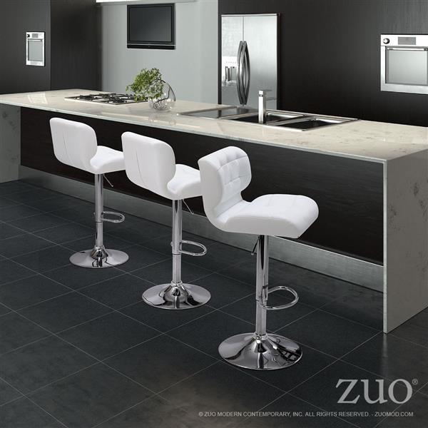 Tabouret de bar Formula de Zuo Modern, 26 po, noir