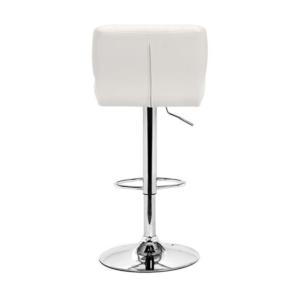 Tabouret de bar Formula de Zuo Modern, 26 po, blanc