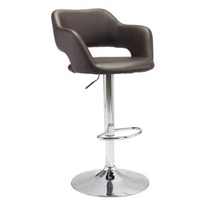 Zuo Modern Hysteria Bar Stool - 24.8-in - Brown