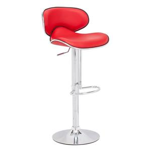 Zuo Modern Fly Bar Stool - 24.8-in - Faux Leather - Red