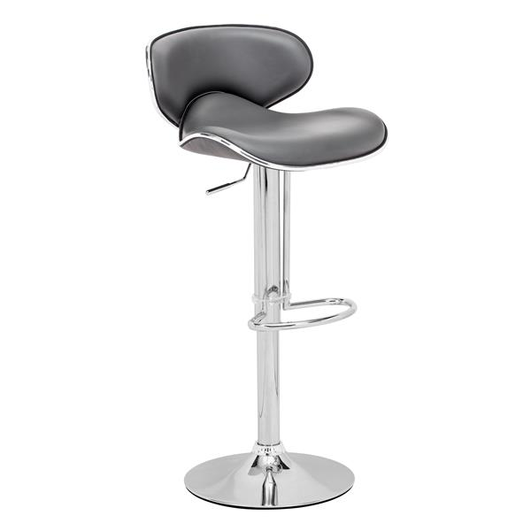 """Fly Bar Stool - 24.8"""" - Faux Leather - Gray"""