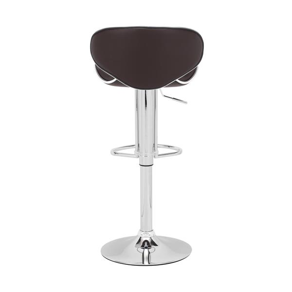 Zuo Modern Fly Bar Stool - 24.8-in - Faux Leather - Brown