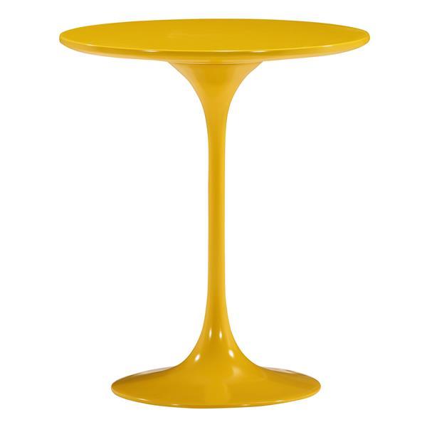 Zuo Modern Wilco Side Table - 19.8-in x 22.8-in - Fiberglass - Yellow