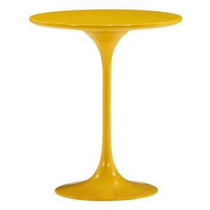 Zuo Modern Wilco Side Table - 19.8-in x 22.8-in - Fiberglass - Yellow