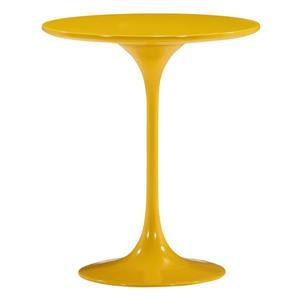 Table d'appoint en fibre de verre Wilco de Zuo Modern, 19,8 po x 22,8 po, jaune