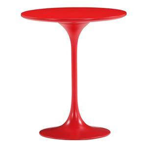 Zuo Modern Wilco Side Table - 19.8-in x 22.8-in - Fiberglass - Red