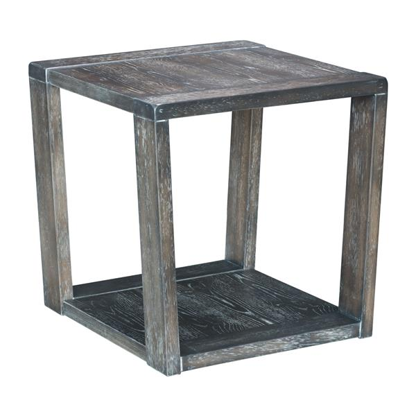 Table d'appoint Skyline de Zuo Modern, 23,6 po x 24 po, gris