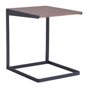 Zuo Modern Sister Side Table - 17.7-in x 18.7-in - Black/Brown