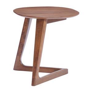 Zuo Modern Park 19.7-in x 18.5-in Brown Wood Veneer Side Table