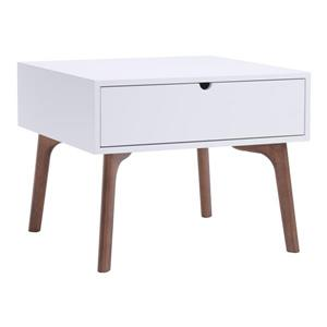 Zuo Modern Padre Side Table - 23.6-in x 18.9-in - White
