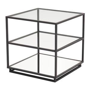 Zuo Modern Kure Side Table  - 21.7-in x 21.9-in - Black Métal