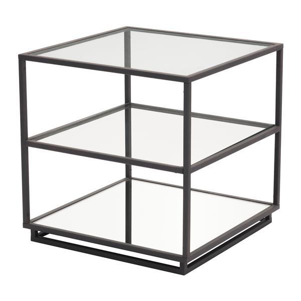 Table d'appoint Kure de Zuo Modern, 21,7 po x 21,9 po, métal, noir