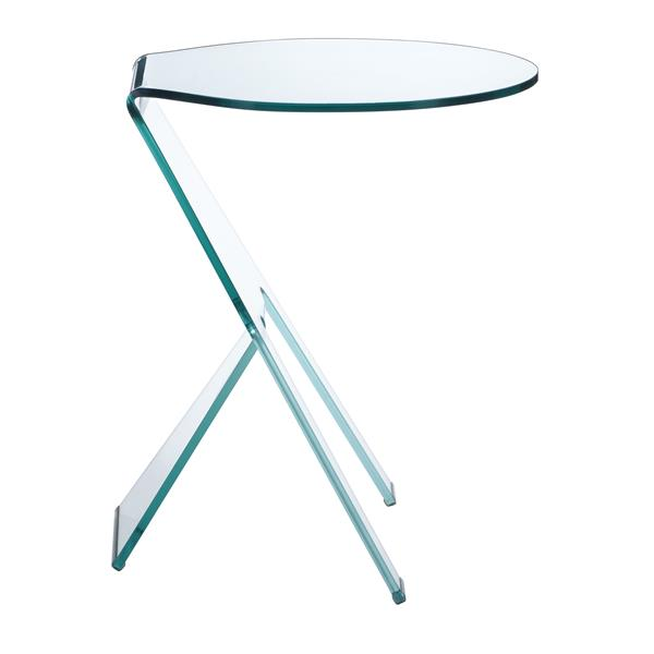 Zuo Modern Journey Side Table - 19.5-in x 23.5-in - Clear Glass